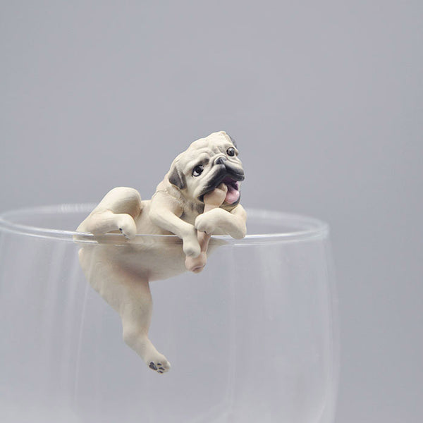 Lovely Naughty Pug Dog Action Toys Models Decoration Toys 3.5cm