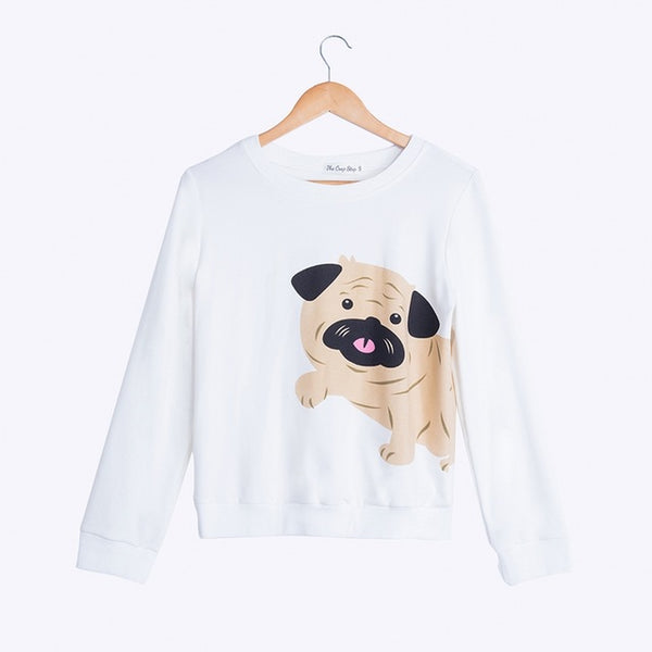 Cute Pug Sweatshirt