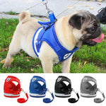 Dog Harness for Pug Small Medium Dogs Nylon Mesh  Harnesses Vest Reflective Walking Lead Leash