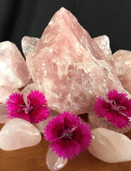 Healing crystal Rose Quartz for calming the mind