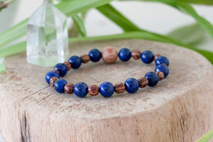 Third Eye Chakra - Living in the Now - Natural Spirit Warrior Crystal Healing Bracelet