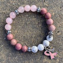 Breast Cancer Warrior Healing Crystal Bracelet