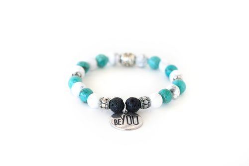 Calming Crystal Bracelet |Anxiety Relief | Essential Oil Diffuser Bracelet | Positivity Bracelet