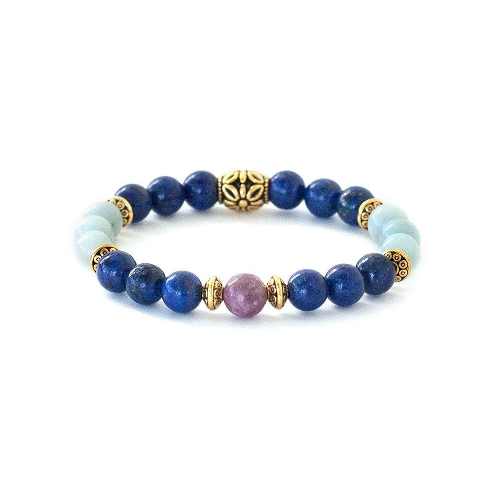 Anxiety Bracelet | Free From Overthinking | Rhodonite | Lapis Lazuli Crystals | Amazonite Gemstones | Anxiety Relief | Calming Bracelet
