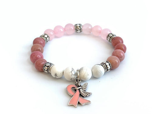 Crystal Breast Cancer Warrior Bracelet