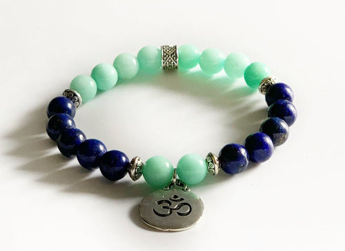 Protection Bracelet with Amazonite and Lapis Lazuli