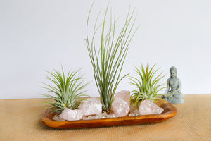 Rose Quartz Crystal Serenity Zen Garden - Large