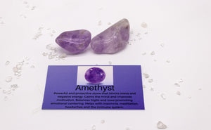 Amethyst Tranquility Stones for Calming Energy With Satin Pouch
