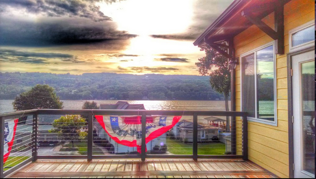 Keuka Lake Sunset at the Olney Place