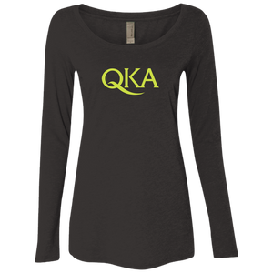 Ladies QKA Long Sleeve Scoop T-Shirt