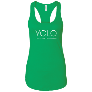 Ladies YOLO Racerback Tee