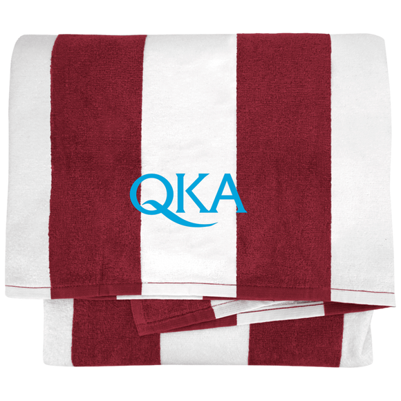 QKA Cabana Stripe Beach Towel