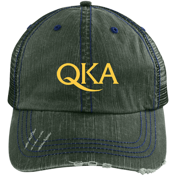 QKA Distressed Trucker Cap