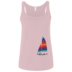 Ladies Keuka Sailboat Relaxed Tank