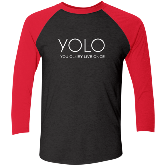 You Only Live Once YOLO Baseball Tee