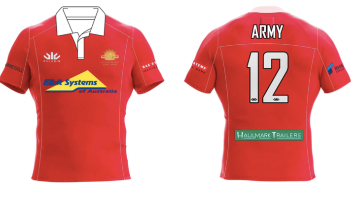 Australian Army Rugby Union Red Jersey
