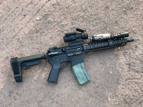 Ben L. in Wisconsin,  SBR Short Barrel Rifle build with Daniel Defense Mk18 RIS rail for Charlies Custom Clones