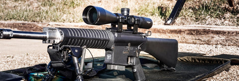 Athlon Midas TAC 6-24x riflescope on bolt action rifle at Charlies Custom Clones