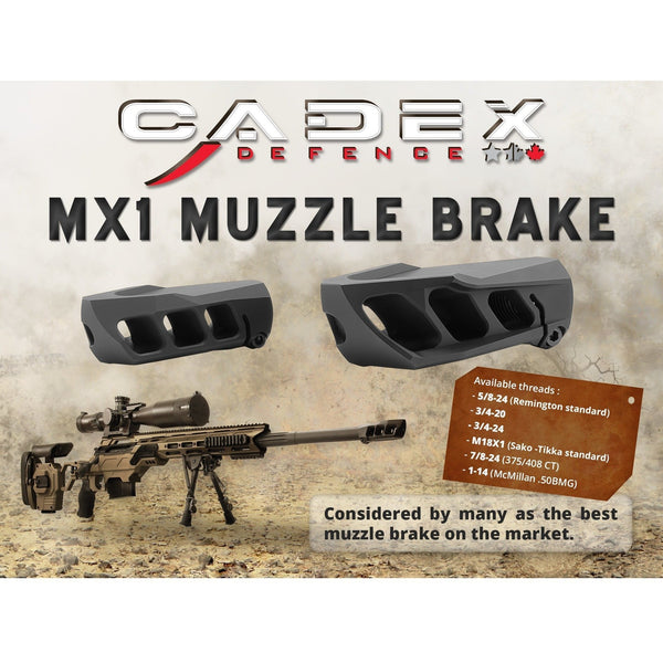 Cadex Muzzle Device Cadex MX-1 Muzzle Break for calibers up to .338 Lapua