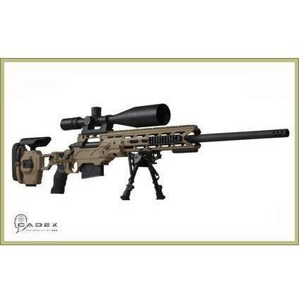 "Cadex Precision Rifle Chassis Cadex Dual Strike Chassis for Stiller .408 cal CheyTac 1.60"" bolt face"