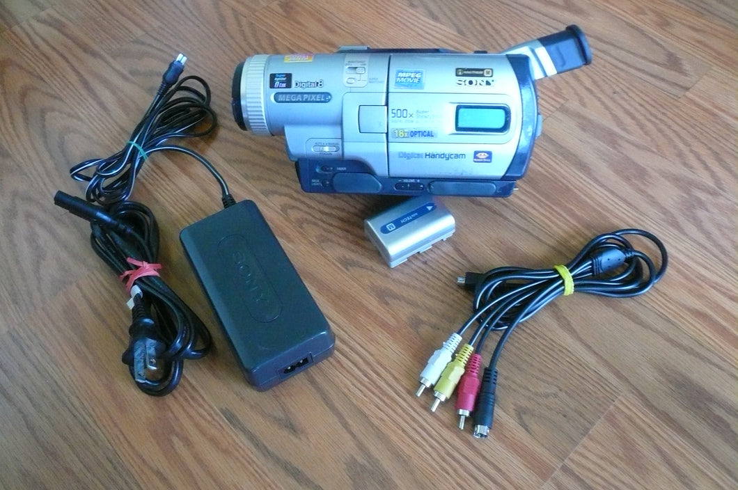 Sony DCR-TRV730e digital8 pal system camcorder plays 8mm Hi8 digital8 in Pal & NTSC