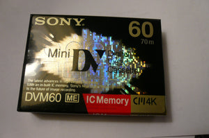 Rare sony DVM-60ME miniDV tape with IC memory