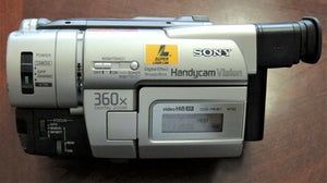 Sony CCD-TRV87 Hi8 heavy duty NTSC camcorder plays 8mm Hi8 analog tapes