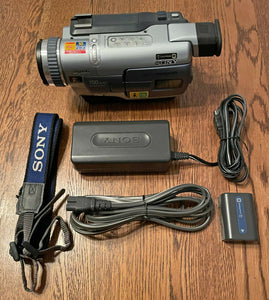 Sony DCR-TRV230 digital8 NTSC camcorder plays 8mm Hi8 digital8 tapes