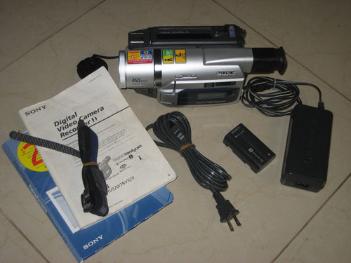 sony DCR-TRV520 digital8 stereo NTSC camcorder plays 8mm Hi8 digital8