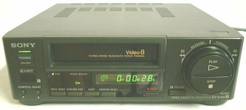 sony EV-C40 NTSC 8mm video8 heavy duty VCR