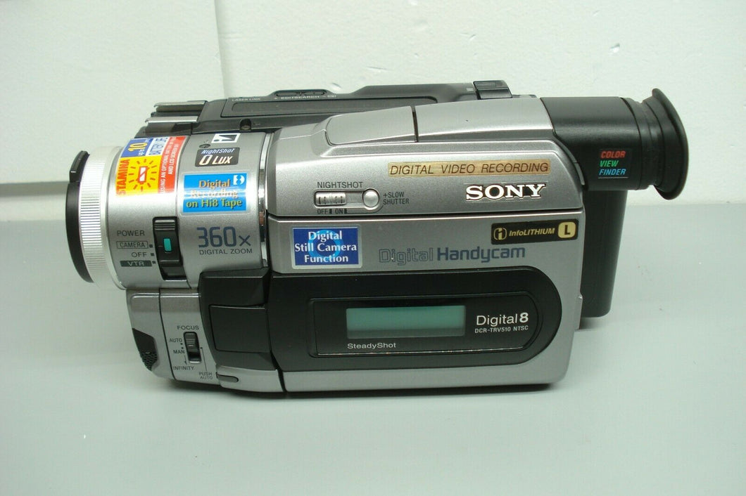 sony DCR-TRV510 digital8 stereo NTSC camcorder plays 8mm Hi8 digital8