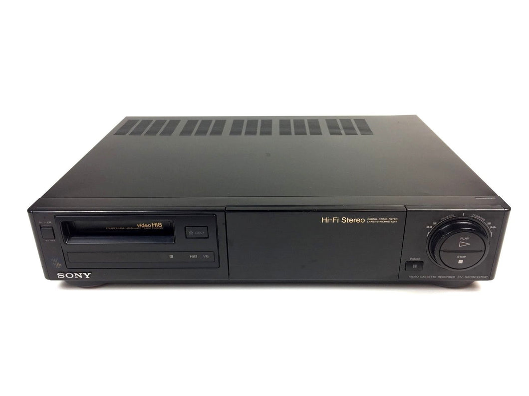 sony EV-S2000 Hi8 stereo NTSC VCR plays 8mm Hi8 analog tapes