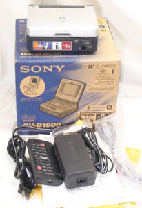 "sony GV-D1000e Pal system miniDV video cassette recorder player with 4"" LCD"