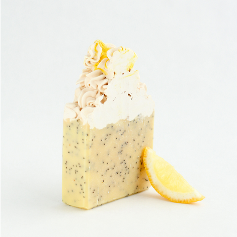 Lemon Poppy Seed Frosted Soap