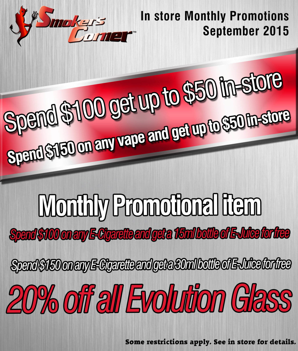 September In Store Promotions
