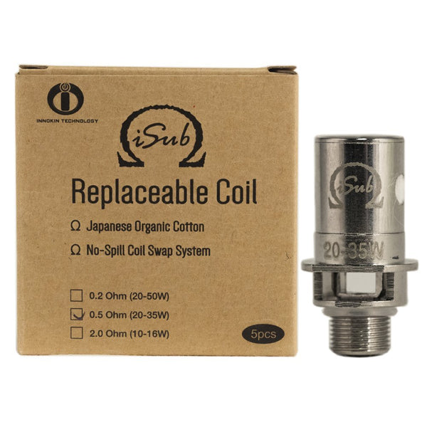 Replacement Coil for iSub Tank 0.5ohm Pack of 5