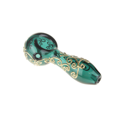 "Pipe Teal ""Golden Henna"""
