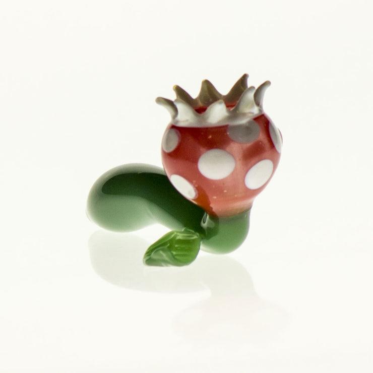 "Glass Pipe ""Red Venus Fly Trap"""