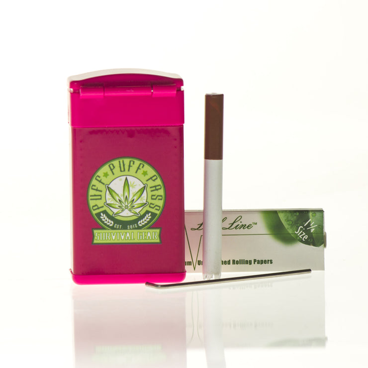 Puff Puff Pass Survival Kit w/ one hitter, rolling papers & Dab tool