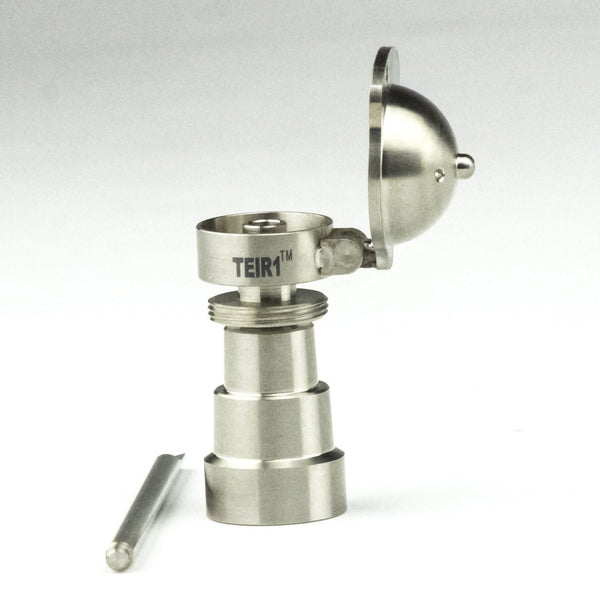 Titanium Nail with Carb Cap and Dabbing Tool 4 in 1 -14 & 18mm male and female joint