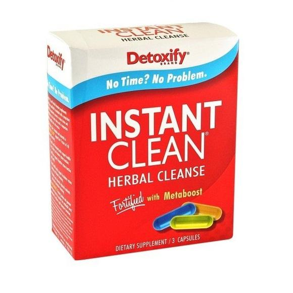 Detoxify Instant clean herbal cleanse Capsules 3/pack