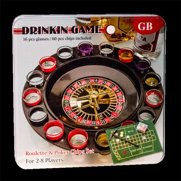 Drinking Games 3in1 Roulette w/ 16 Shot Glass