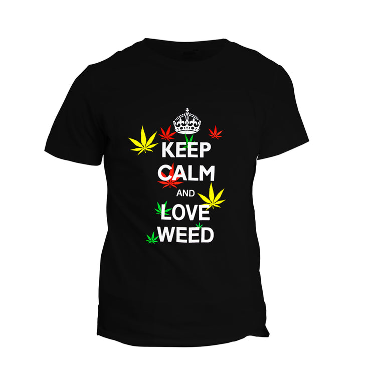 T-Shirt Keep Calm & Love Weed