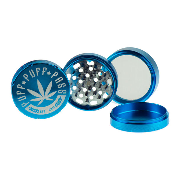 3 Stage Puff Puff Pass Grinder 62MM CNC Aluminum