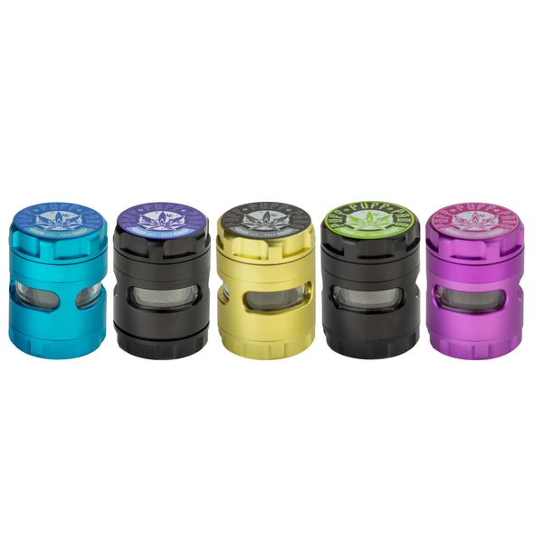 "Grinder Puff Puff Pass ""Space Pod"" 3 Stage 50mm w/removable Screen"