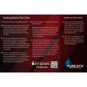 Pure Detox Maximum Strength 20oz Instructions