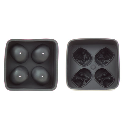 Silicone Tray Black Skull 2 Piece