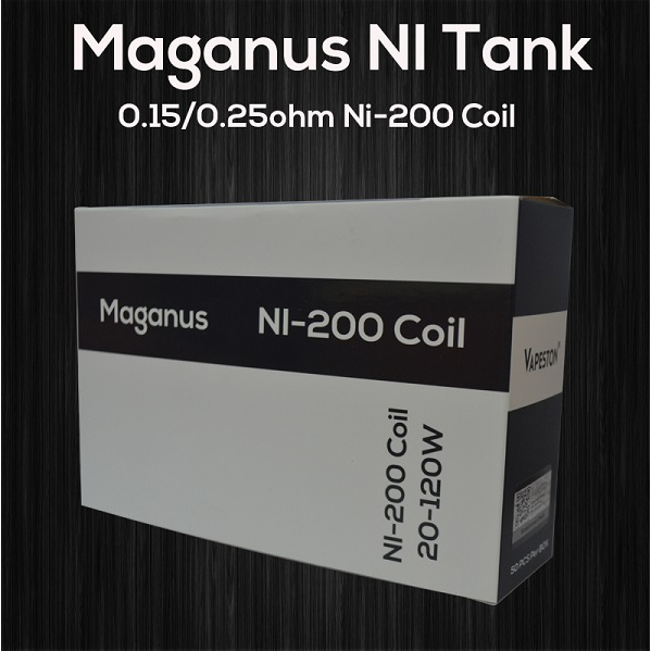 Vapeston Maganus NI Coil 0.25ohm Pack Of 5