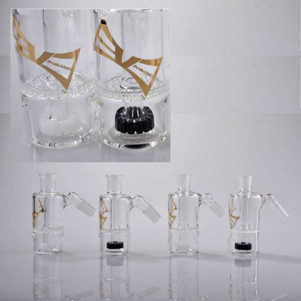 Evolution Glass Ashcatcher with Showerhead & Honeycomb Perc