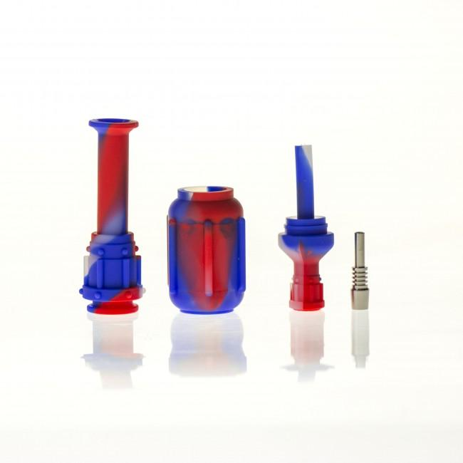Silicone Nectar Collector with titanium nail
